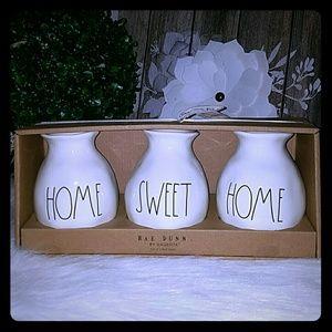 Rae Dunn set of 3 home sweet home vase